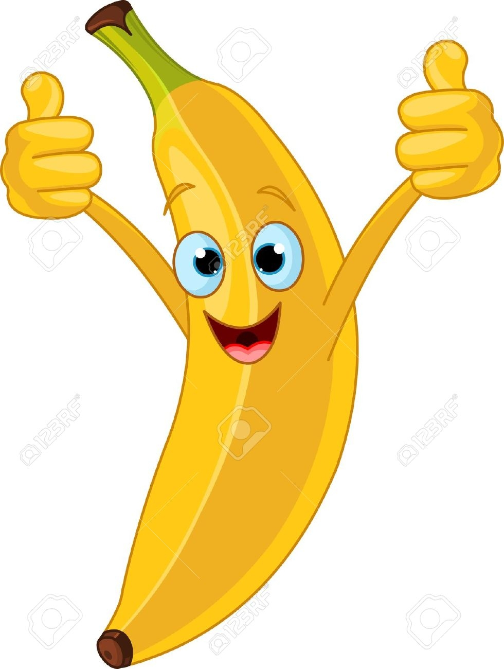 980x1300 Banana clipart happy