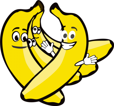 400x370 Banana clipart yellow thing