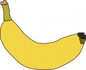 300x246 Banana Clip Art Download