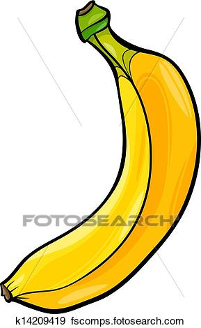 289x470 Clip Art of banana fruit cartoon illustration k14209419