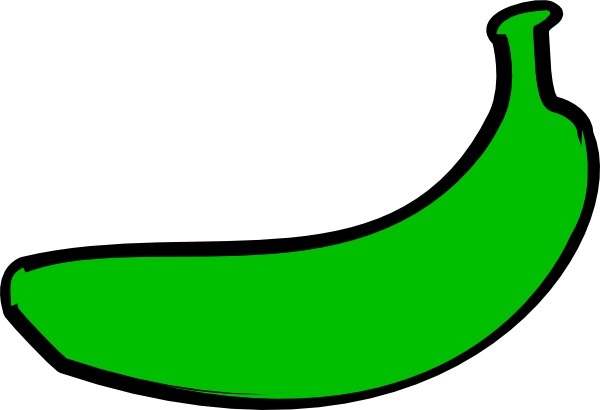 600x410 Green Banana Clip Art