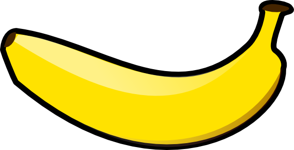 600x306 Horizontal Banana Clip Art