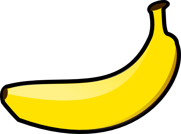 600x445 Banana Clip Art Free Vector 4vector