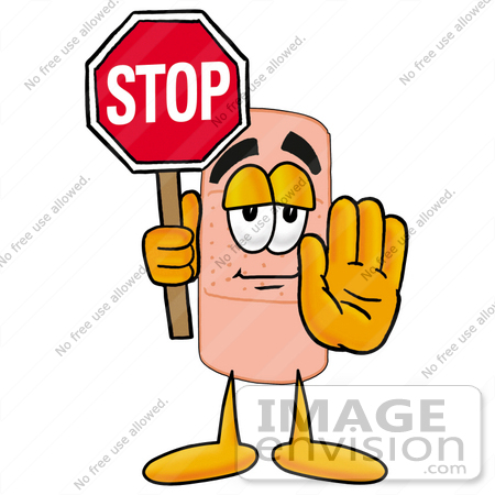 450x450 Cliprt Graphic Of Bandaid Bandage Cartoon Character Holding