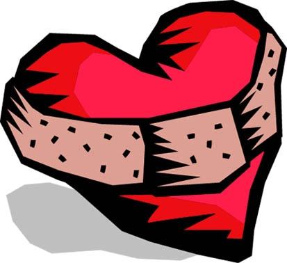 413x378 Broken Heart Clipart Bandaid Clipart