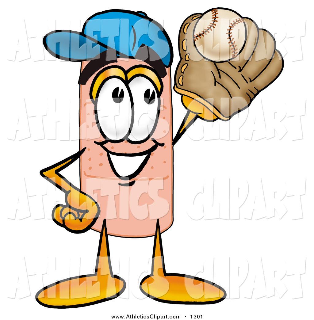 1024x1044 Clip Art Of A Sporty Bandaid Bandage Mascot Cartoon Character