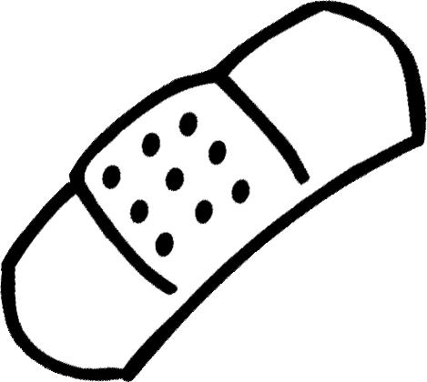 469x420 Clipart Band Aid