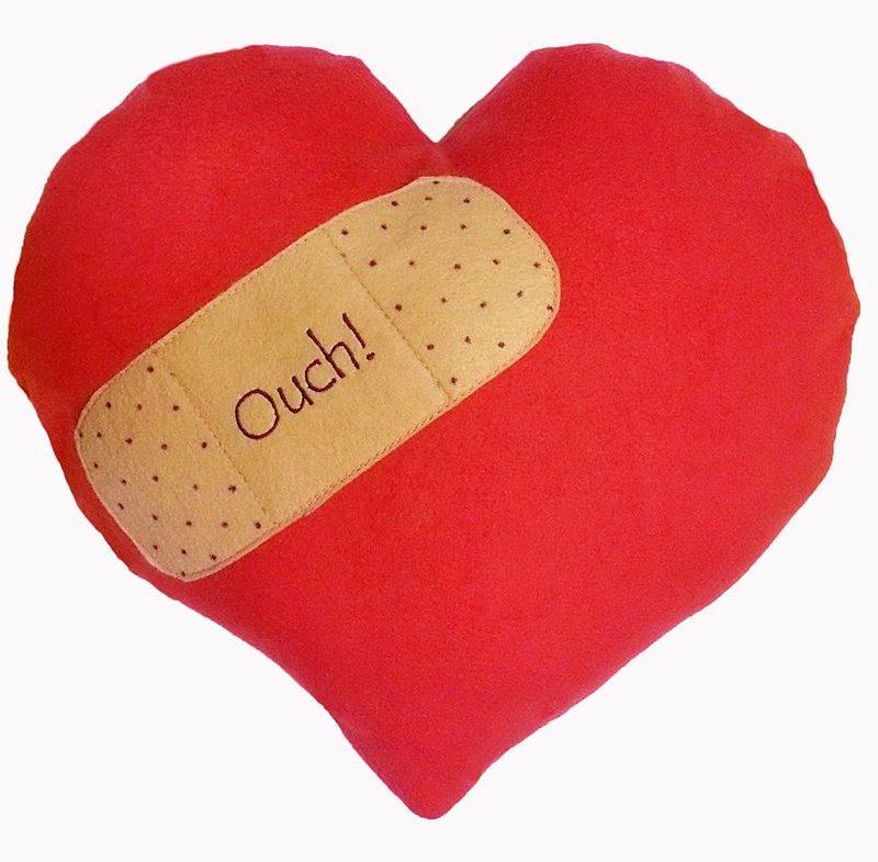 800x785 Band Aid On Heart Fleece Pillow