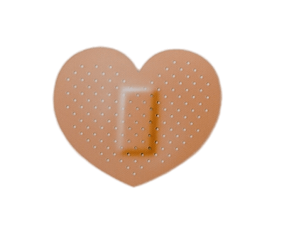 400x321 Heart Shaped Band Aid Transparent Png