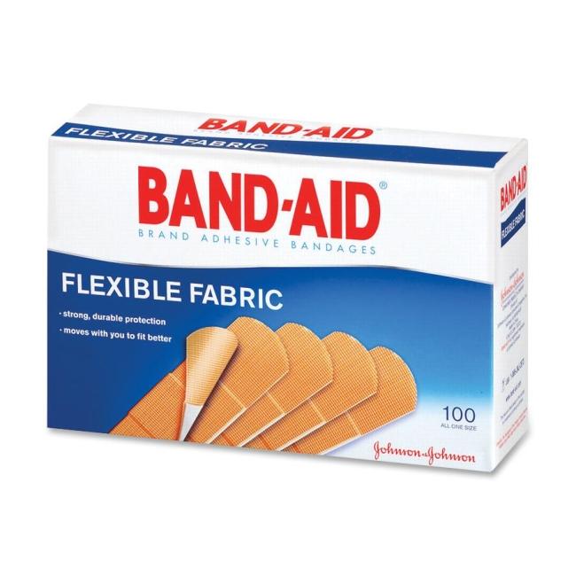 650x650 Band Aid Flexible Fabric Adhesive Bandage 100 Box 100 X 1 Width