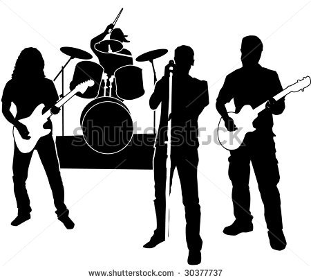 450x404 Band Rock Band Clipart