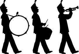 271x186 March Band Clipart