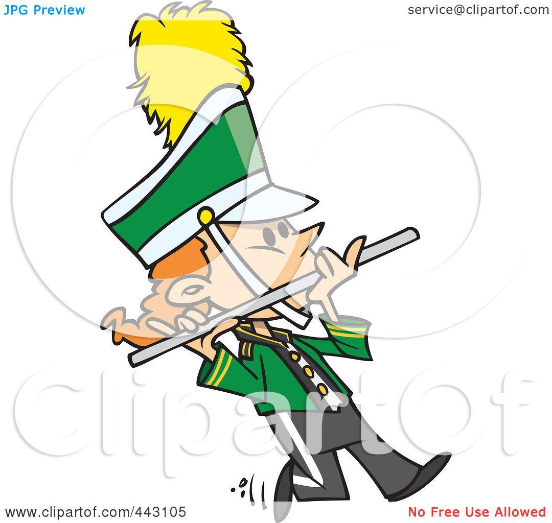 1080x1024 Royalty Free (Rf) Cliprt Illustration Of Cartoon Flutist In
