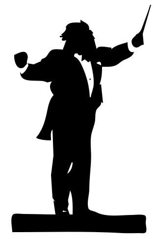 320x487 Band Director Clipart