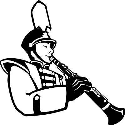 400x399 Marching Band Clip Art