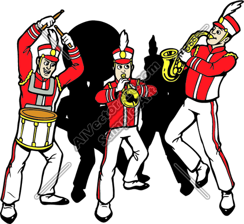500x459 Marching Band Clipart