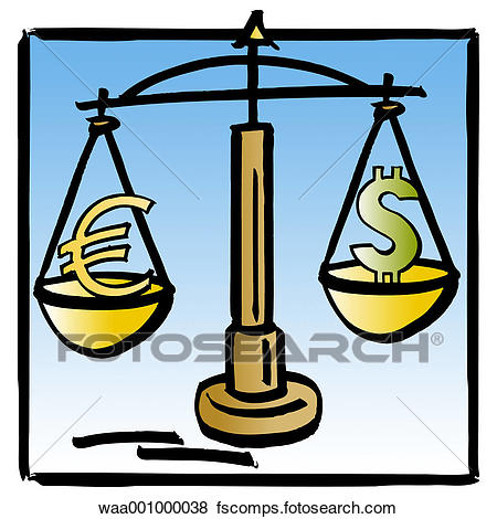 450x470 Stock Illustration Of Scales, Finances, Dollars, World