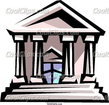 375x361 Courthouse Or Bank Building Vector Clip Art