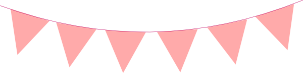 600x146 Bunting Clipart Triangle Banner