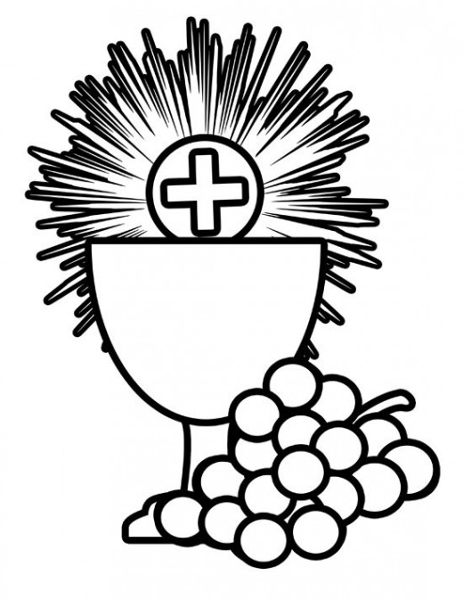 520x673 Free First Holy Communion Clip Art Communion, Bodies And Banners