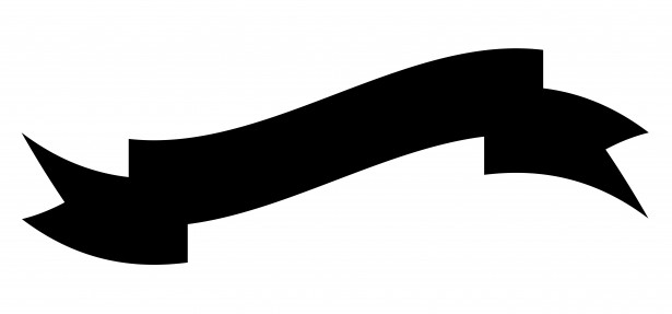 615x287 Ribbon Banner Clipart Black And White Free