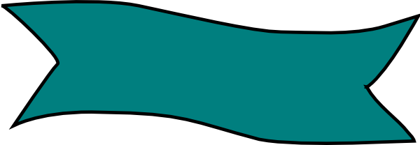 600x208 Teal Clipart Banner