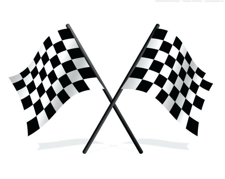 863x690 Checkered Flag Image Print Fabric Printable Paper Banner Free