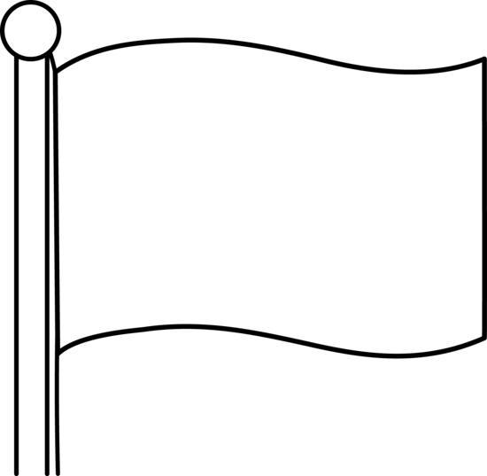 550x537 Free Flag Banner Clipart Black And White Image