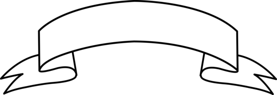 550x189 Ribbon Banner Clipart Black And White Free