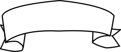 425x184 Ribbon Banner Clipart Black And White Free 2