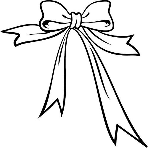 500x500 Ribbon Black And White Clipart