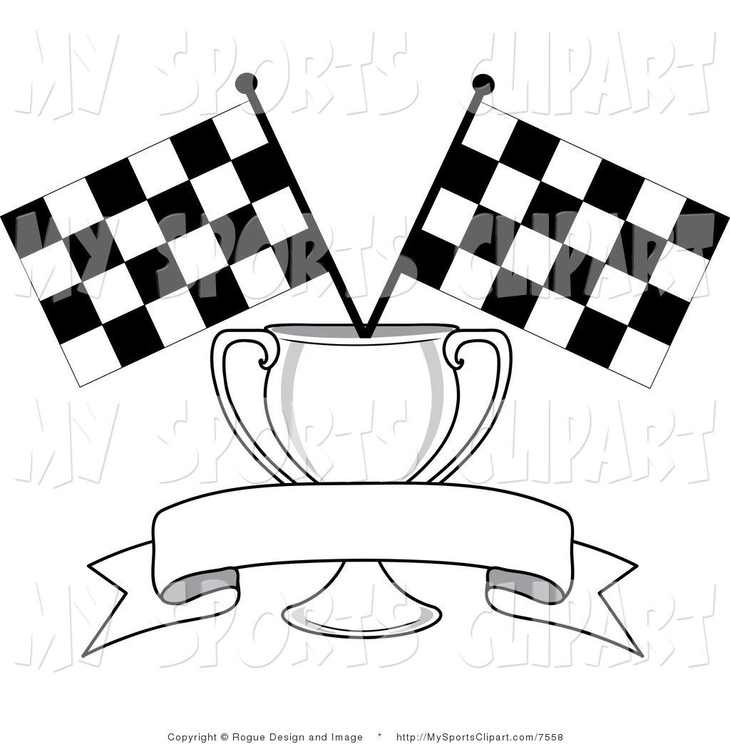 1024x1044 Sports Clip Art Of A Banner Trophy And Two Checkered Flags By Pams