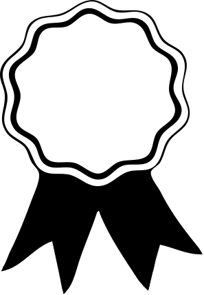 297x428 And Black White Ribbons Clipart