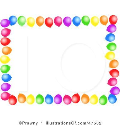 400x420 Balloon Border Clip Art