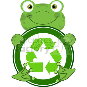 300x300 Royalty Free 5659 Royalty Free Clip Art Happy Frog Hugging Banner