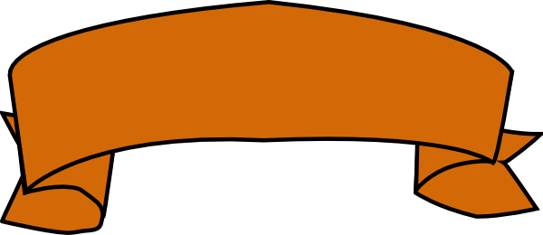 600x260 Orange Banner Clip Art