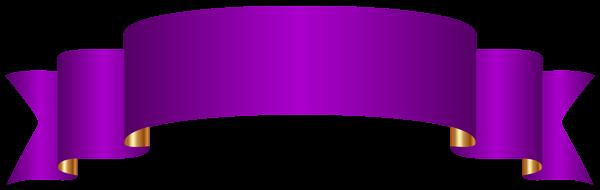 600x190 Purple Banner Transparent Png Clip Art Image
