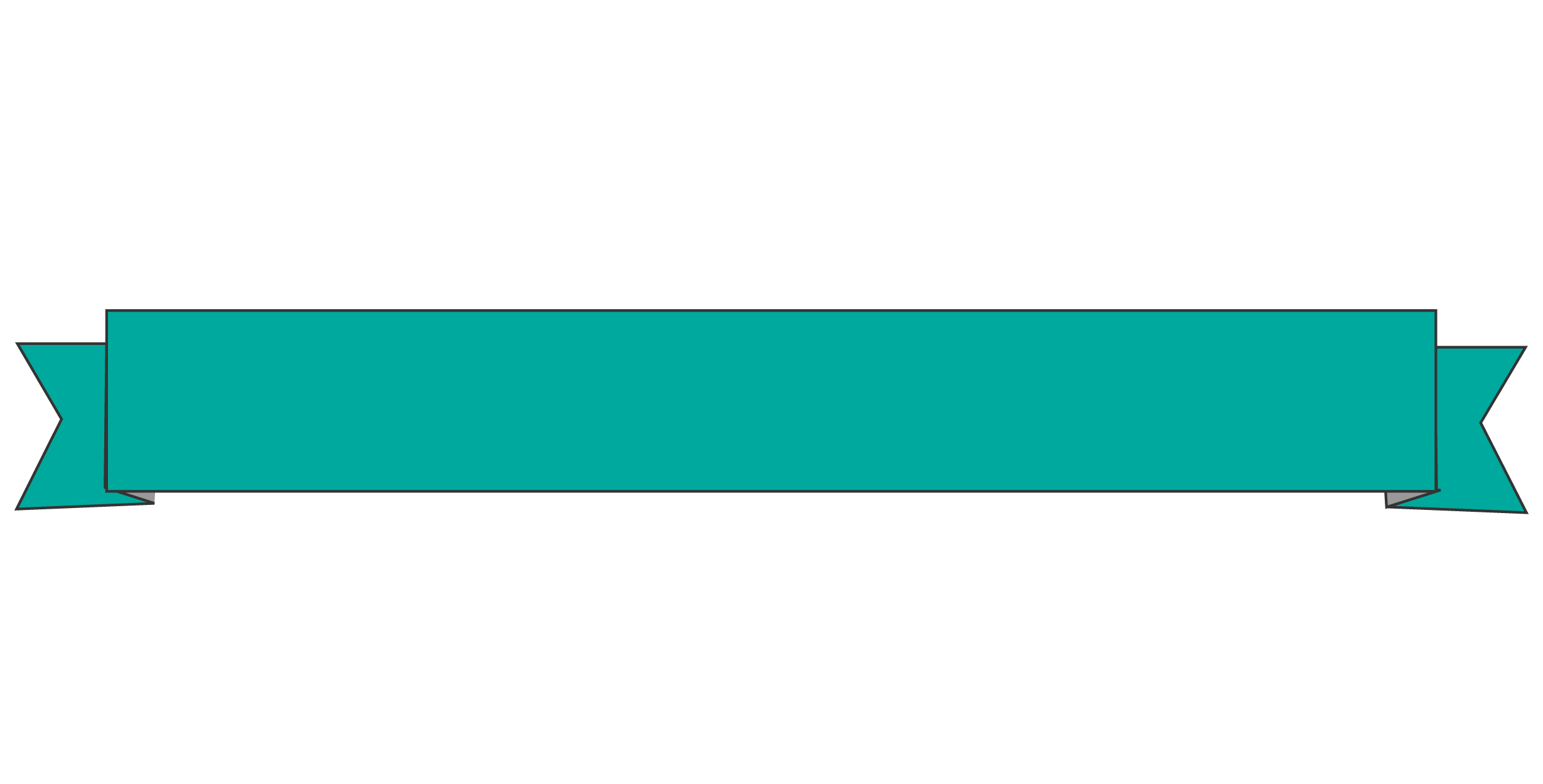 2458x1250 Teal Clipart Banner