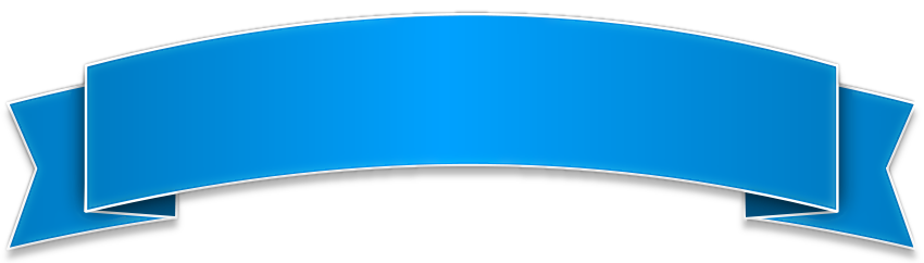 850x242 Glossy Banner Blue For Album Banners, Blank Banner