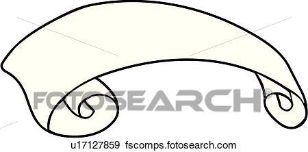 450x222 Clip Art Of Ribbon, Ribbons, Scroll, Scrolls, Banner, Banners