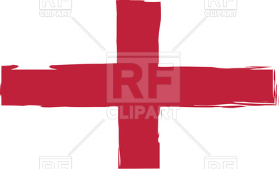 400x242 Grunge England Flag Or Banner Royalty Free Vector Clip Art Image