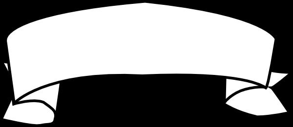 600x261 Ribbon Outline Clip Art Free Vector 4vector