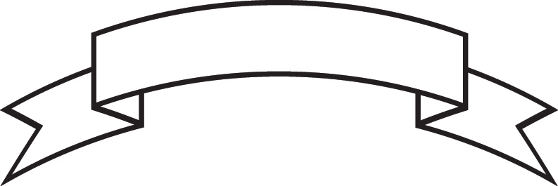 793x265 Ribbon Outline Banner Clip Art Free Vector For About
