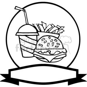 300x300 Royalty Free Banner Of Hamburger Drink And French Fries 378971