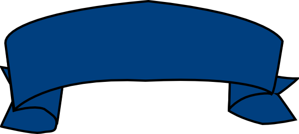 600x270 Blue Ribbon Banner Clipart