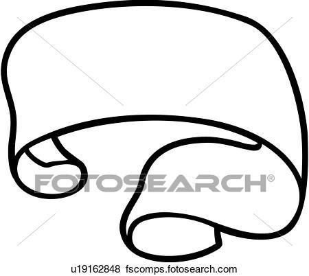450x402 Clip Art Of , Ribbons, Banner, Scroll, U19162848