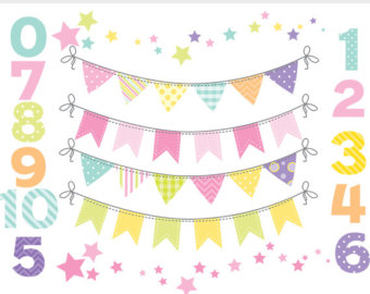 340x270 Bunting Clip Art Numbers Bunting Banner Flags Clipart