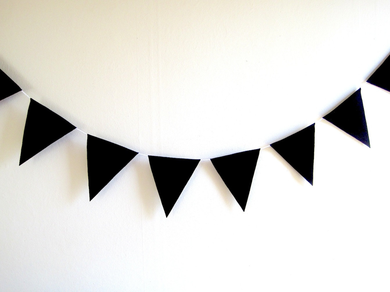 1343x1006 Bunting Clipart Black And White