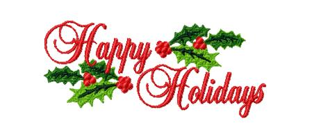 446x200 Happy Holidays Banner Clipart