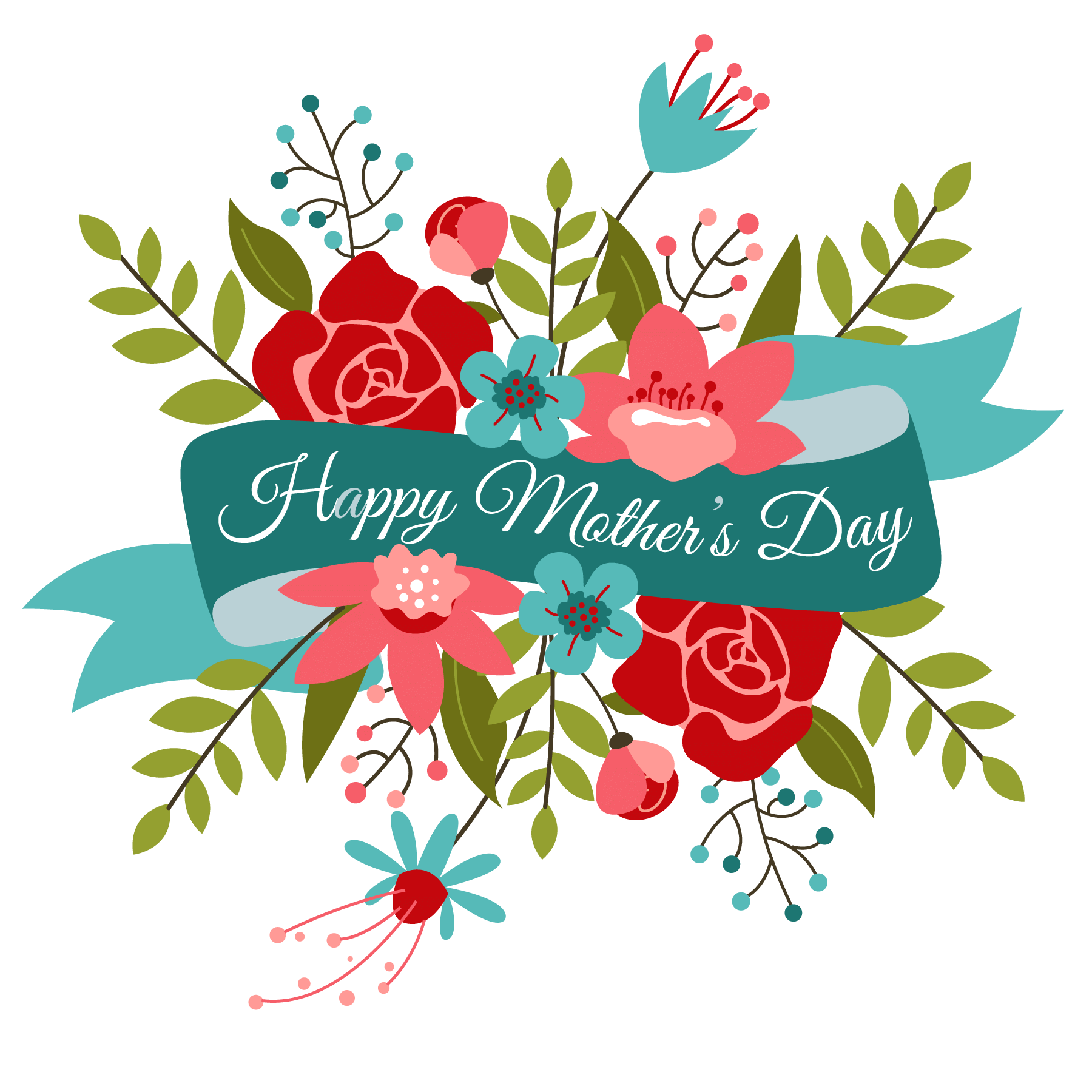 1800x1800 Happy Mothers Day Banner Transparent Png